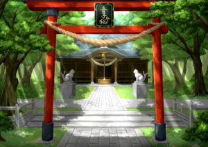音子猫神社全景
